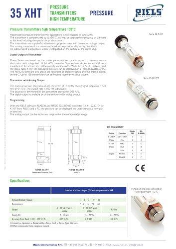 35XHT Pressure transmitters high temperature Riels