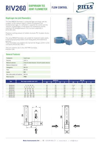 FPD_Diaphragm_tee_flowmeter_Riels