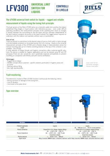 LFV300 Riels Instruments vibration level switch