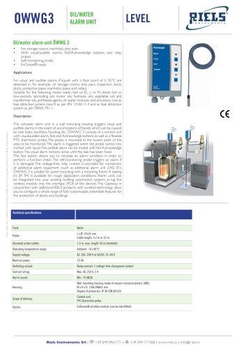 OWWG3 Oil Water alarm unit Riels