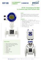 RIF100 Electromagnetic Flowmeter Riels®Instruments - 1