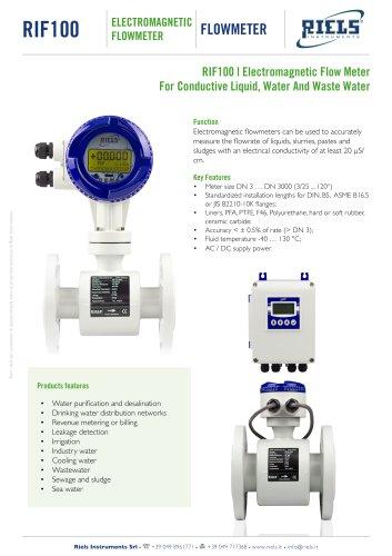 RIF100 Electromagnetic Flowmeter Riels®Instruments