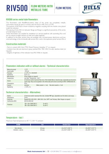 RIV500 Flowmeter with reading index suitable for any liquid Riels.pdf