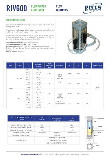 RIV600 Flowswitch for liquids Riels Instruments.pdf