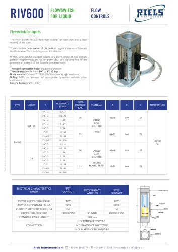 RIV600 Flowswitch for liquids Riels Instruments.pdf