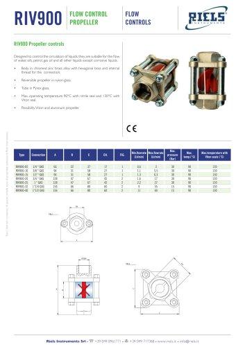 RIV900 Flow control propeller Riels® Instruments