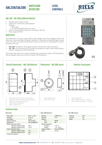 UAL358 and SAL500 Antiflood Detector Riels® Instruments
