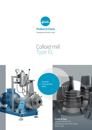 Colloid mill Type EL