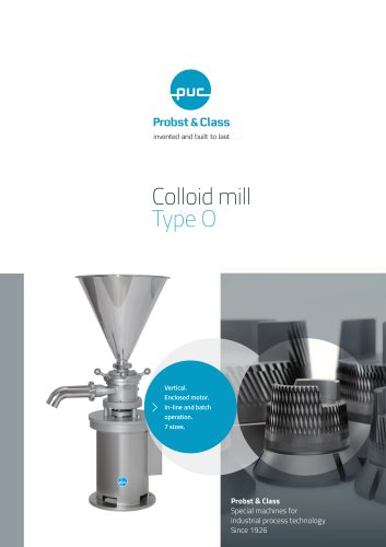 Colloid mill Type O