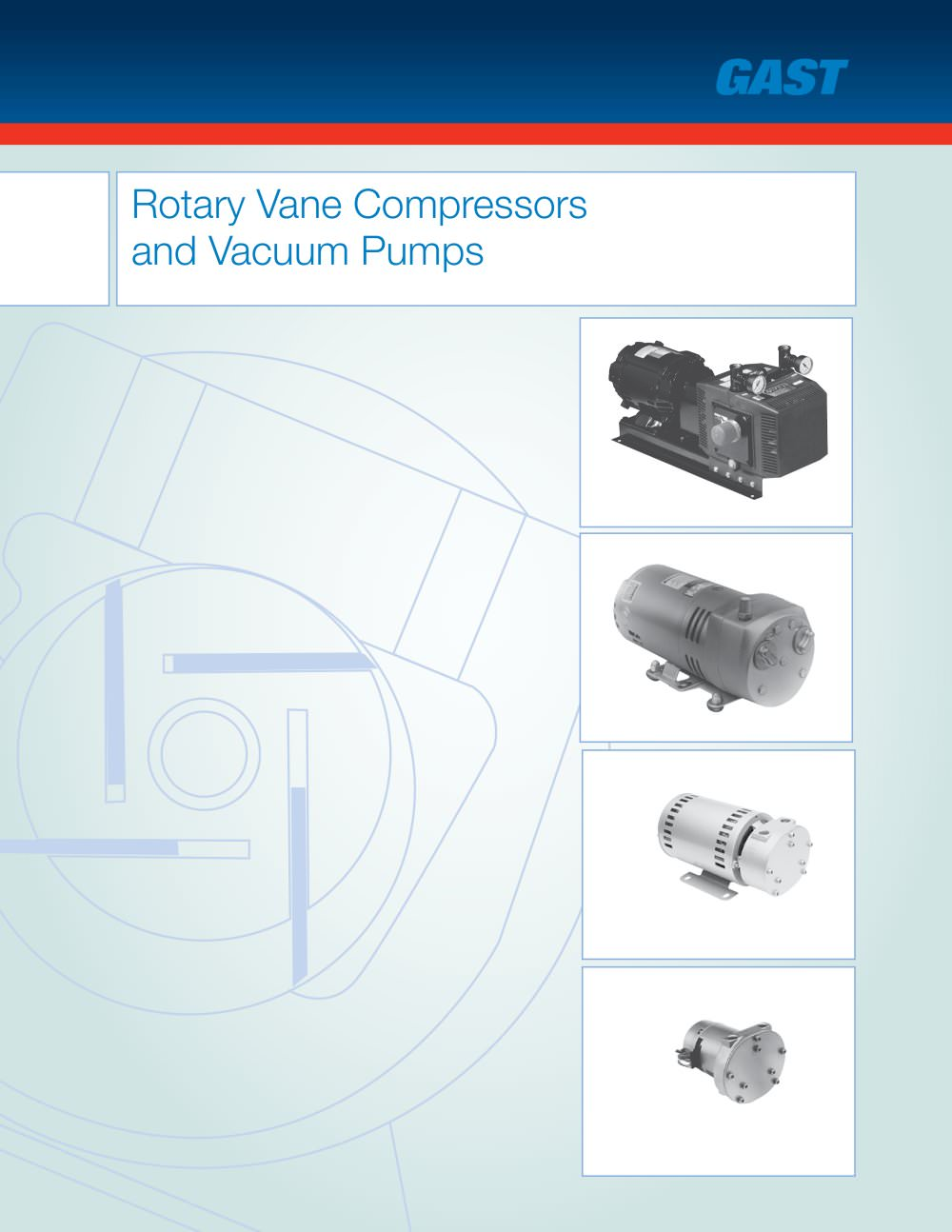 Gast Vacuum Pumps Wiring Diagram Schematic Diagrams Thomas Compressor Rotary Vane Compressors Pdf Catalogue