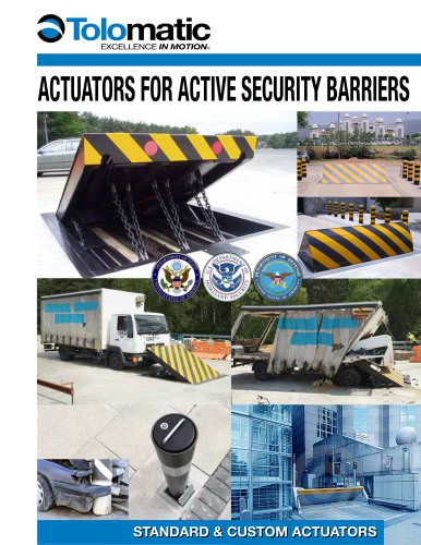 Actuators for Active Security Barriers