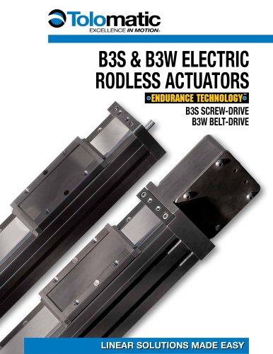 B3S & B3W Electric Rodless Actuator