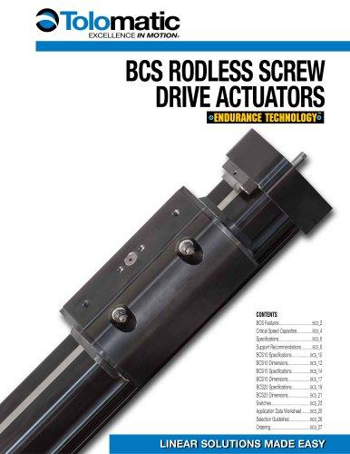 BCS/MCS Rodless, Screw Drive, Actuator