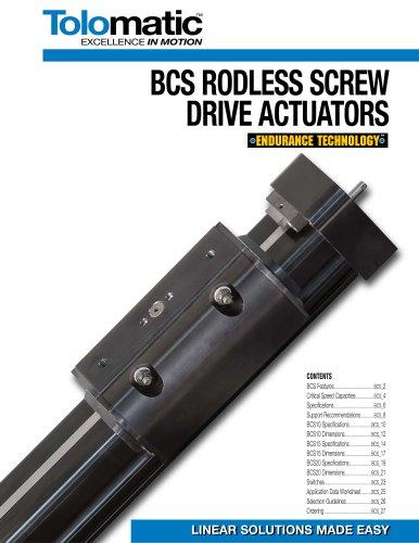 BCS RODLESS SCREW DRIVE ACTUATORS