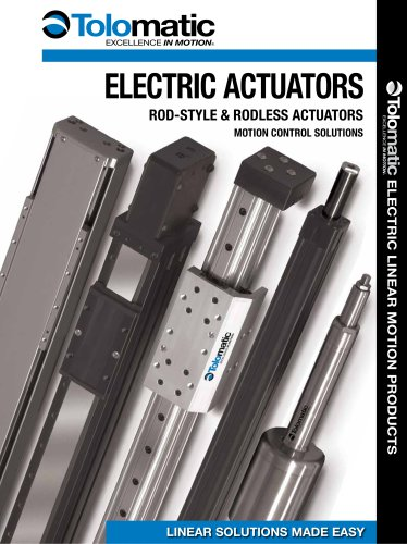 Electric Linear Motion Products Foldout Brochure