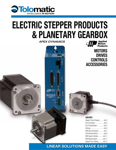 Electric Stepper Products & Planetary Gearbox