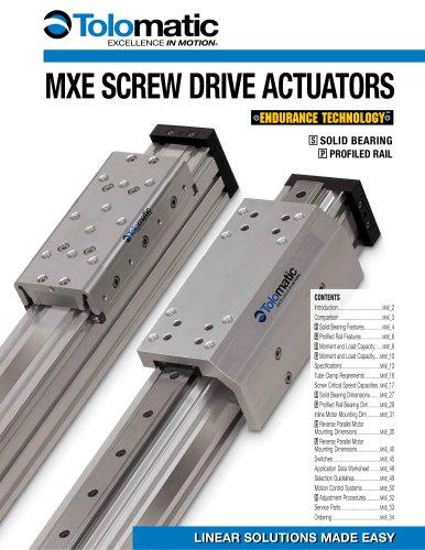 MXE Electric Rodless Actuator Catalog