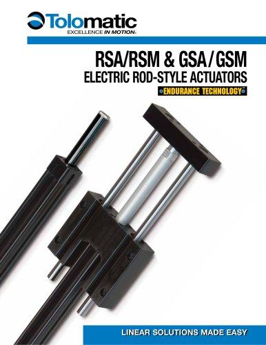 RSA-GSA Rod-Style Screw Drive Actuator Brochure