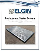 Shale Shaker Screens