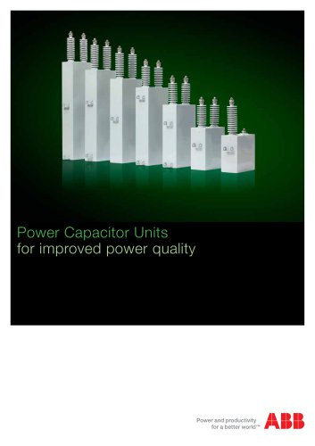 Power Capacitor Units for improved power quality