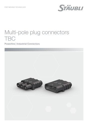 Multi-pole plug connectors
