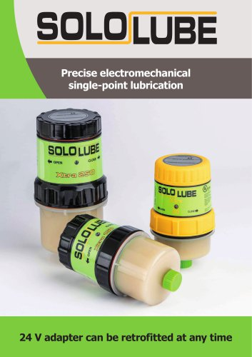SOLOLUBE - safe automatic lubrication