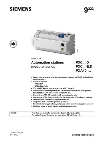 Automation stations modular series PX