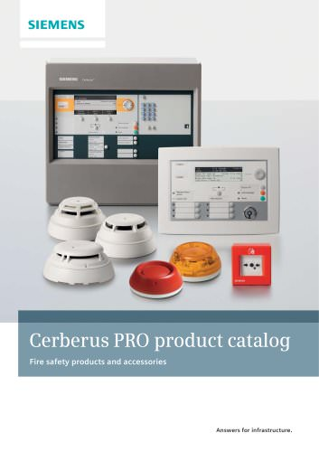 Cerberus PRO product catalog - Fire safety products and accessories