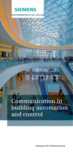 Communication in building automation and control
