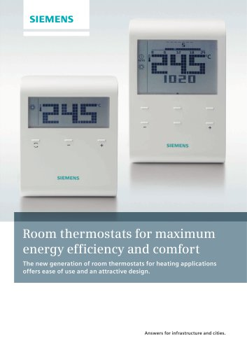 Room thermostats for maximum energy efficiency and comfort