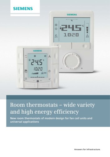 Room thermostats – wide variety and high energy efficiency