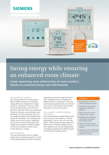 Saving energy while ensuring an enhanced room climate
