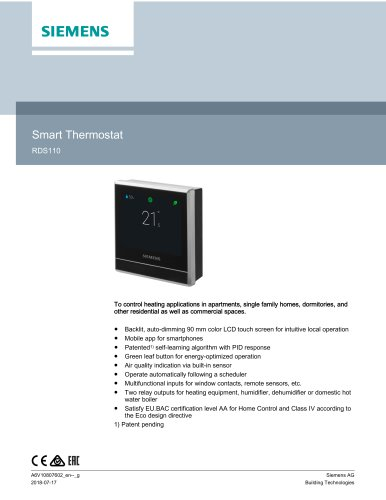 Smart Thermostat RDS110