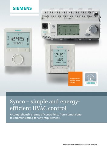 Synco – simple and energy- efficient HVAC control