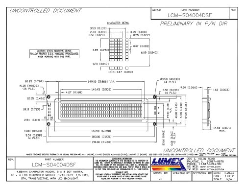 LCM-S04004DSF InfoVue LCDs
