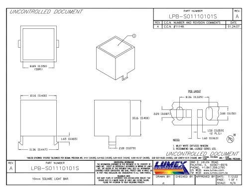 LPB-S01110101S Light Bars Square 10mm