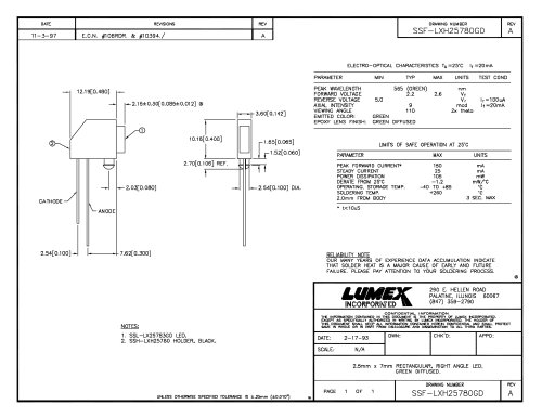 SSF-LXH25780GD QuasarBrite LEDs