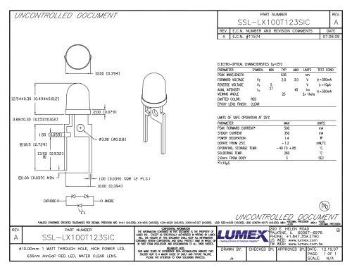 SSL-LX100T123SIC TitanBrite High Power LEDs