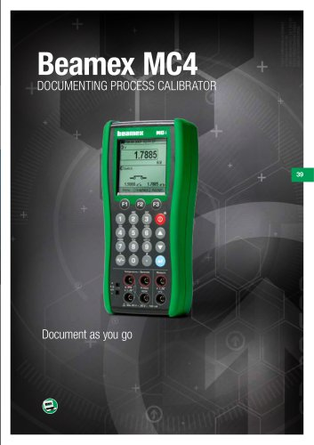 Brochure - Beamex MC4 documenting process calibrator
