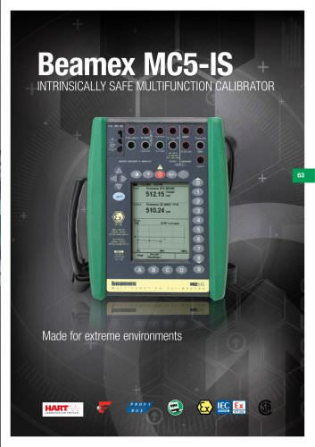 Brochure - Beamex MC5-IS intrinsically safe multifunction calibrator