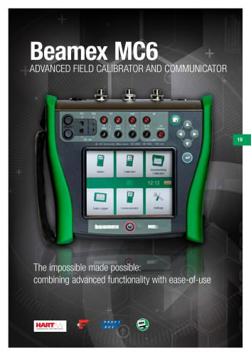 Brochure - Beamex MC6 advanced field calibrator and communcator