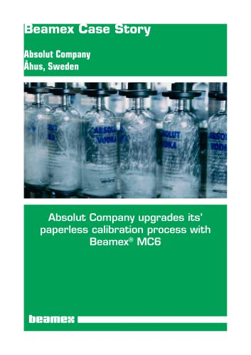 Case Story Absolut Company - Absolut Company upgrades its paperless calibration process with Beamex® MC6