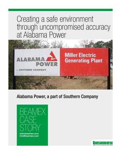 Case Story, Alabama Power - Creating a safe environment through uncompromised  accuracy at Alabama Power