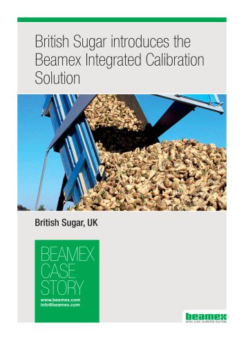 Case Story, British Sugar introduces the Beamex Integrated Calibration Solution