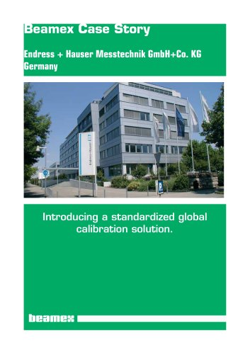 Case Story Endress + Hauser- Introducing a Global Calibration Solution