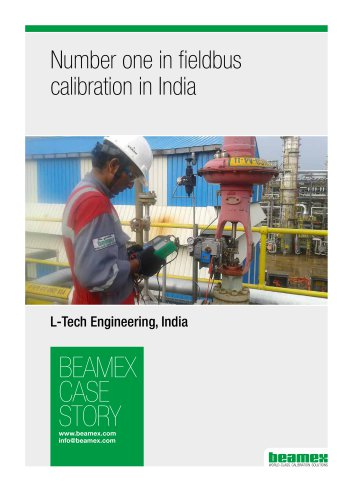 Case Story, L-Tech India - Number one in fieldbus calibration in India