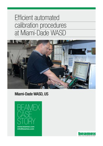 Case Story, Miami Dade WASD - Efficient automated calibration procedures at Miami-Dade WASD