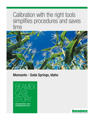 Case Story, Monsanto - Calibration with the right tools simplifies procedures and saves time
