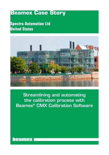 Case Story Spectra Automation Ltd - Streamlining and automating the calibration process with Beamex® CMX Calibration Software