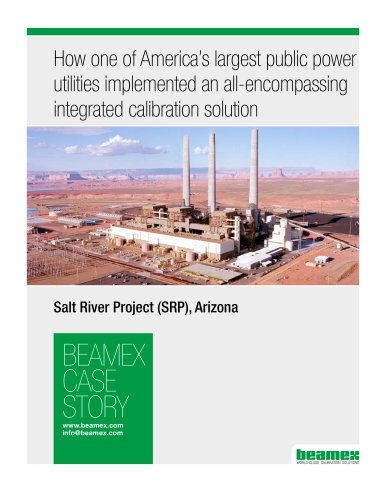 Case Story, SRP - How one of the largest US power generation providers transformed their calibration program